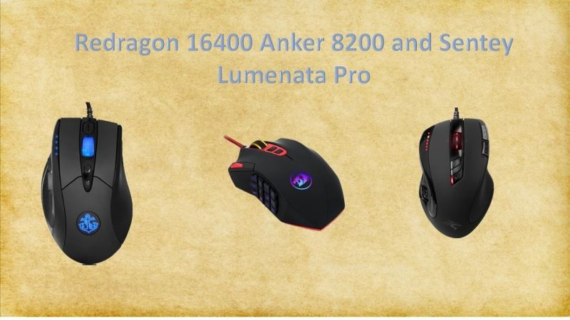 Gaming mice for 30$: a review comparing Redragon 16400, Anker 8200 and Setey Lumenata Pro