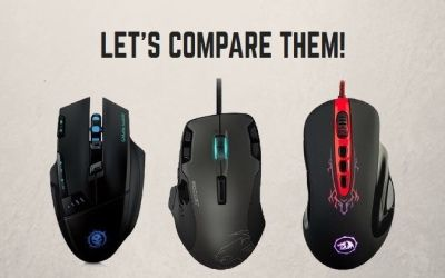 The review of gaming mice under $25– Mpow Dragon Slayer, Redragon M903 vs. Roccat Tyon
