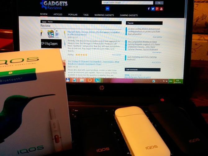 IQOS Cigarette | Review of a iQOS electronic tobacco device