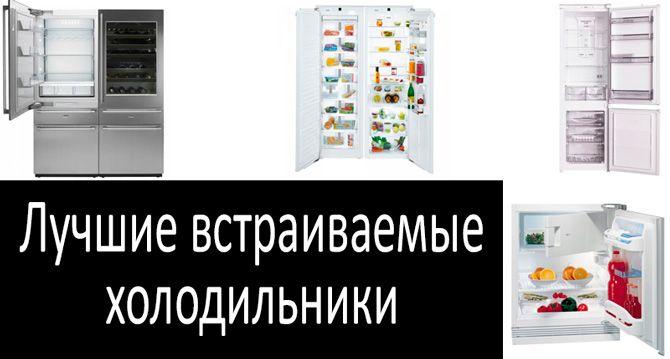 Лучшие встраиваемые холодильники: фото