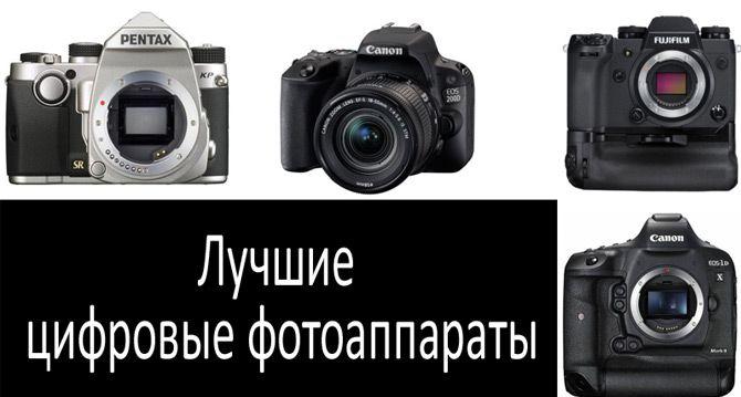 Лучшие цифровые фотоаппараты: фото