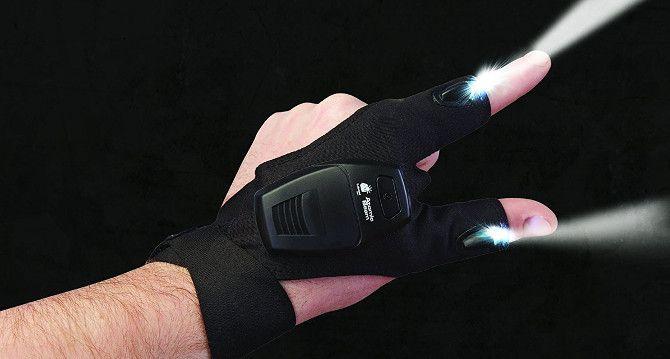 LED Flashlights Gloves,Perfect Tool Gift for Handyman,Camping,Fishing,Repair