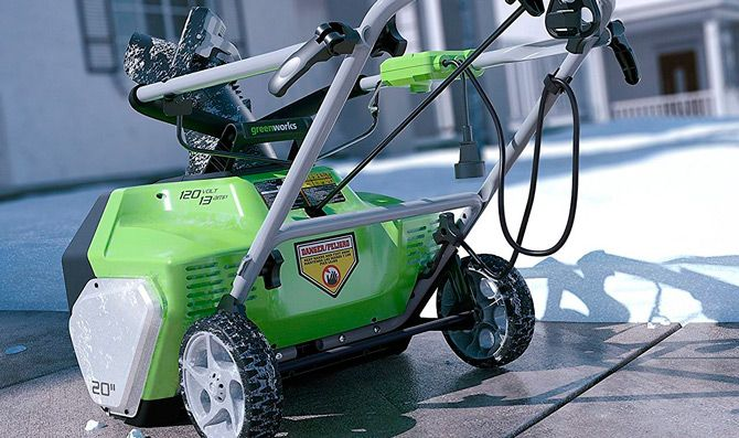 Best electric snow blowers: photo