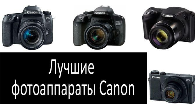 Лучшие фотоаппараты Canon: фото