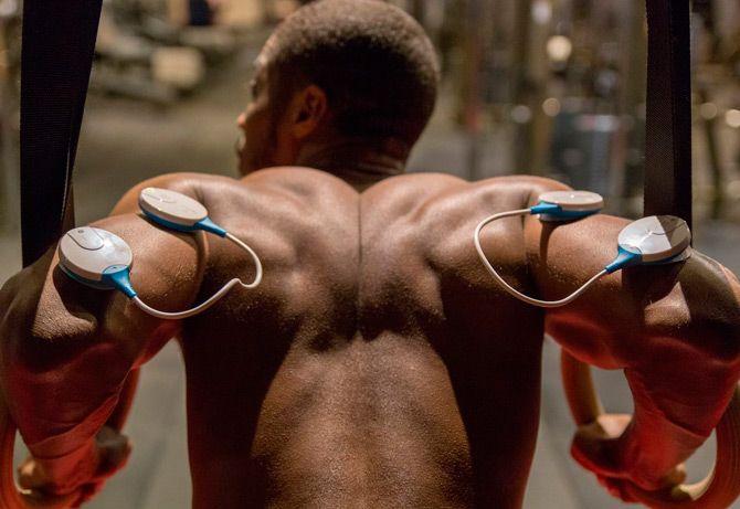 Elektrische muskelstimulation: foto