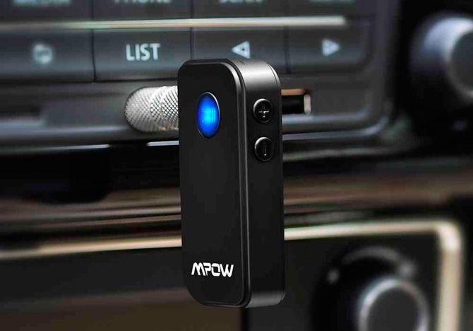Microphone Incorpor/é pour Appel Mains Libre R/écepteur Bluetooth Adaptateur Audio Sans fil avec Sortie Audio Jack 3,5mm Kit Bluetooth 4,2 pour St/ér/éo de Voiture ou Maison Casque Audio /à Fil Enceinte