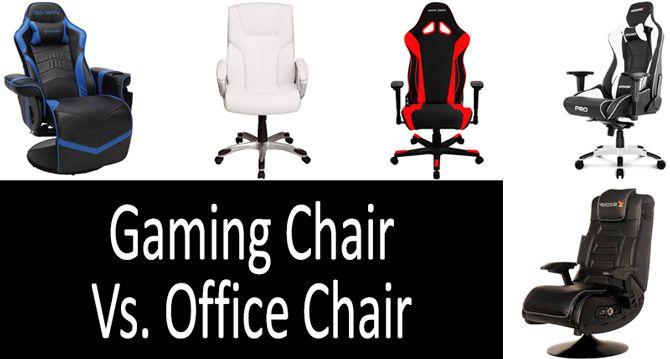 Gaming Chair vs Office Сhair: photo