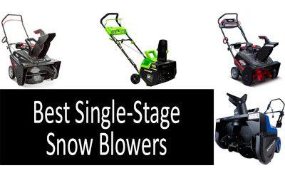 Best single stage snow blowers min: photo
