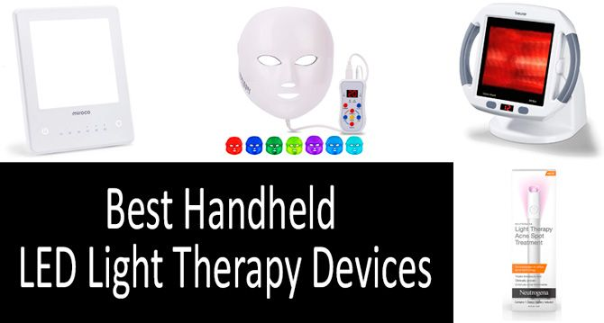 Best handheld led light therapy devices: photo