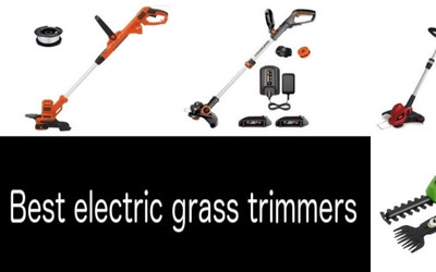 Best electric grass trimmers min: photo