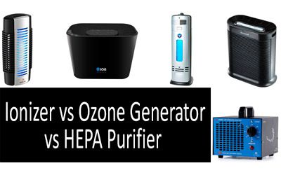 Ionizer VS Ozone generator VS HEPA Air Purifier min: photo