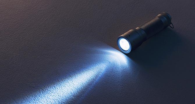 AA Rechargeable Spotlight avec multi Grip Torche 1 W DEL Lampe Sécurité UK