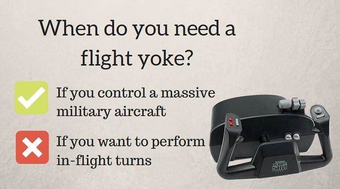 a flight yoke' using in simulators