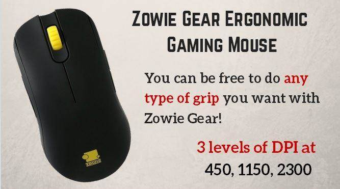 Zowie Gear Ergonomic Optical Gaming Mouse